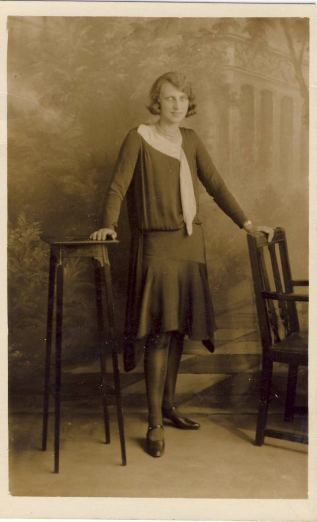 Bob's mother posing for a photograph